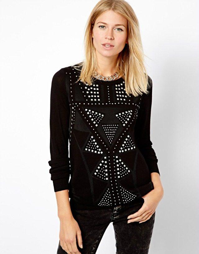 Mango Embellished Knit Sweater | York Avenue