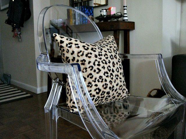 Leopard print Ariana Belle pillow | York Avenue