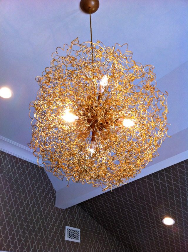 Coiled light fixture at Hampton Designer Showhouse | York Avenue