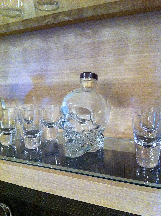 Skull decanter at the Hampton Designer Showhouse 2013 | York Avenue