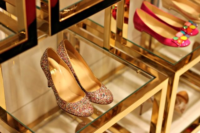 Confetti glitter heels at KSNY's Madison Avenue flagship | York Avenue