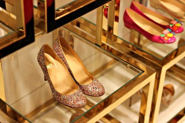 Confetti glitter heels at KSNY's Madison Avenue flagship | York Avenue