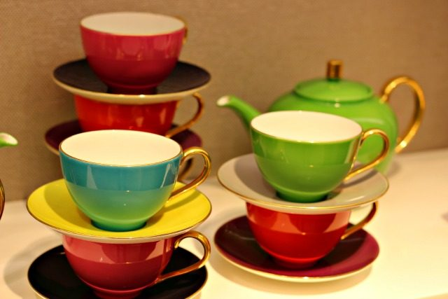 Colorful stacked teacups at KSNY | York Avenue