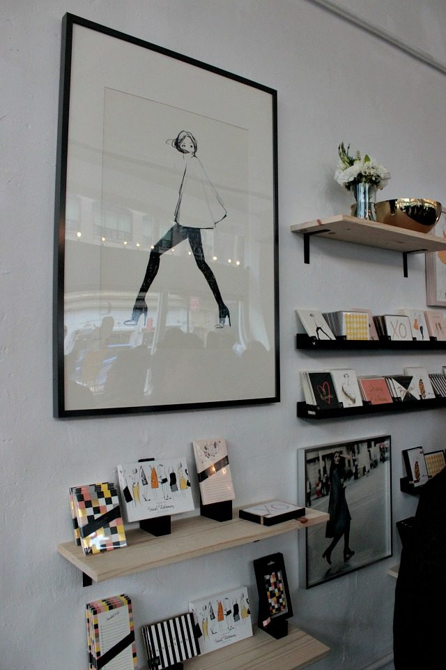 Garance Dore's paper goods on display at 168 Bowery