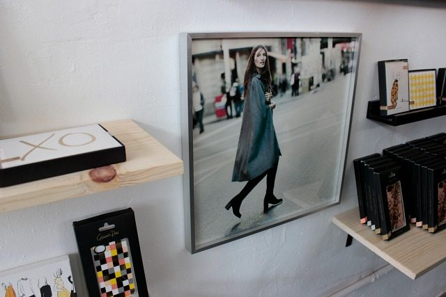 A photograph taken by Garance Dore, framed and displayed at the Open Studio in New York City