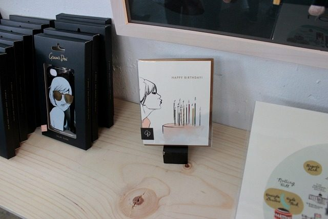 A birthday card created by Garance Dore in collaboration with Rifle Paper Co.