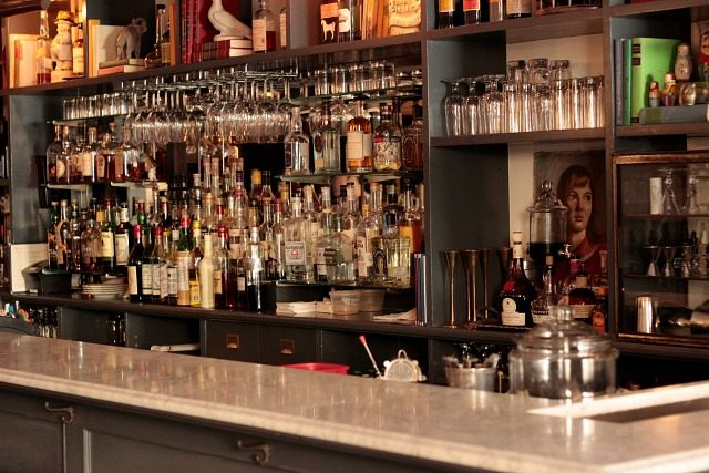 The gorgeous bar at Tipsy Parson in New York City