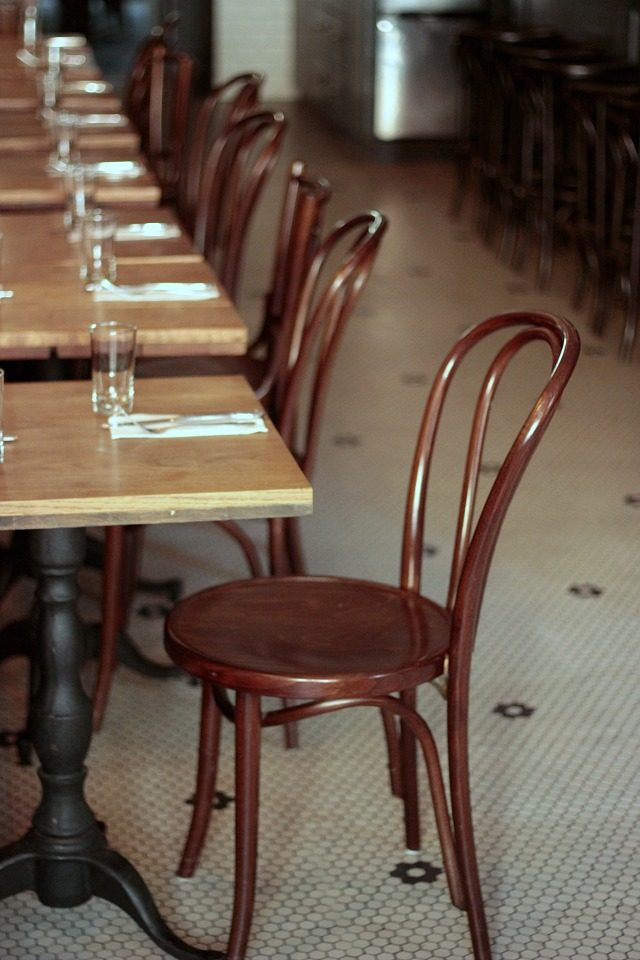 Thonet chairs at Tipsy Parson in New York City