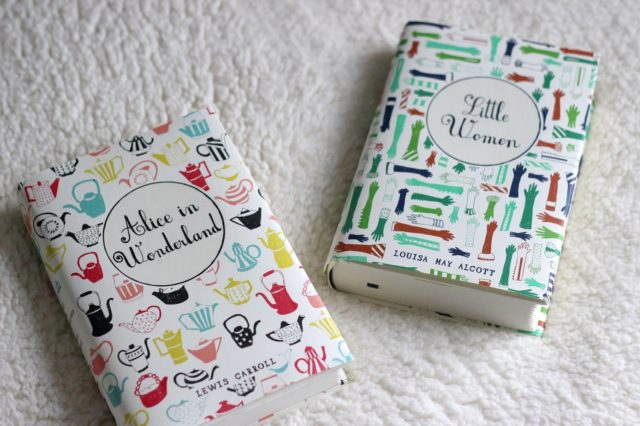 Mr Boddington's Puffin and Penguin Classics featured by top US interior design blog, York Avenue: sleeve for Alice in Wonderland and Little Women