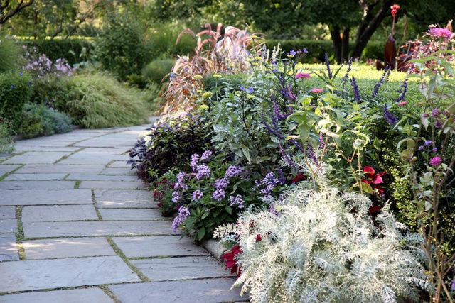 English garden at the Central Park Conservatory Garden