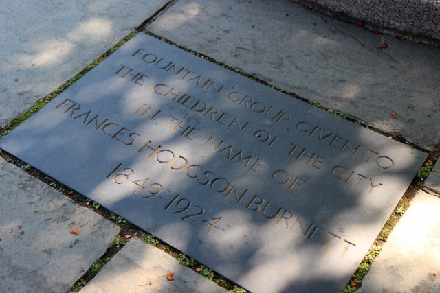Francis Hodgson Burnett memorial plaque