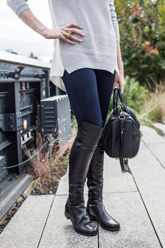7ffca8fe25f Stuart Weitzman over the knee boots in black nappa