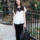 Outfit Post: Scalloped Blouse