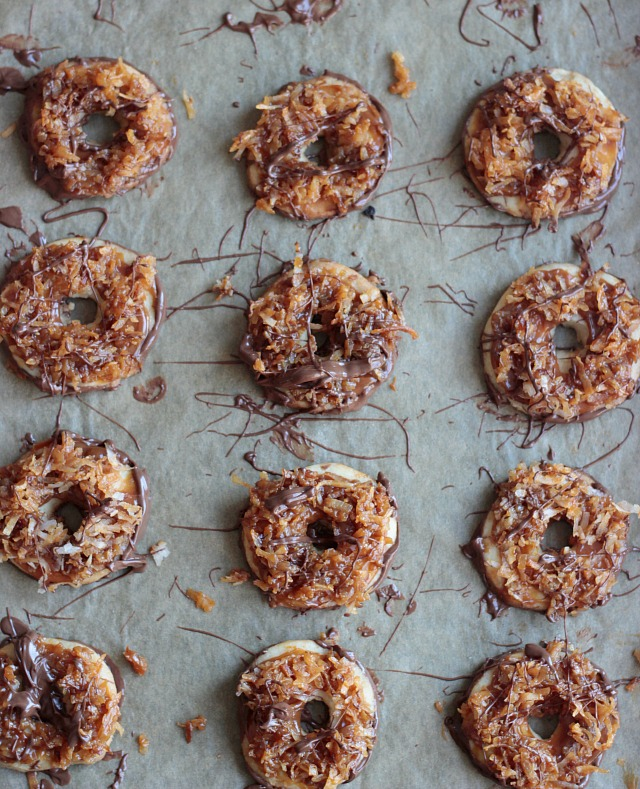Homemade Dulce de Leche Samoas Girl Scout Cookies - York Avenue