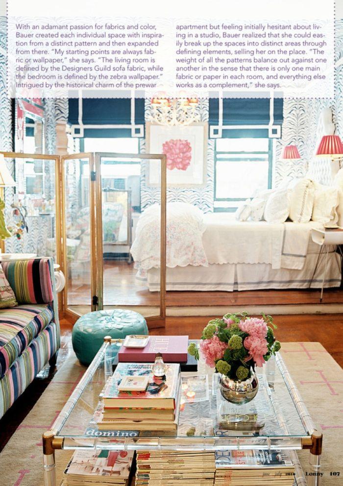 Elizabeth Bauer's Colorful Studio Apartment