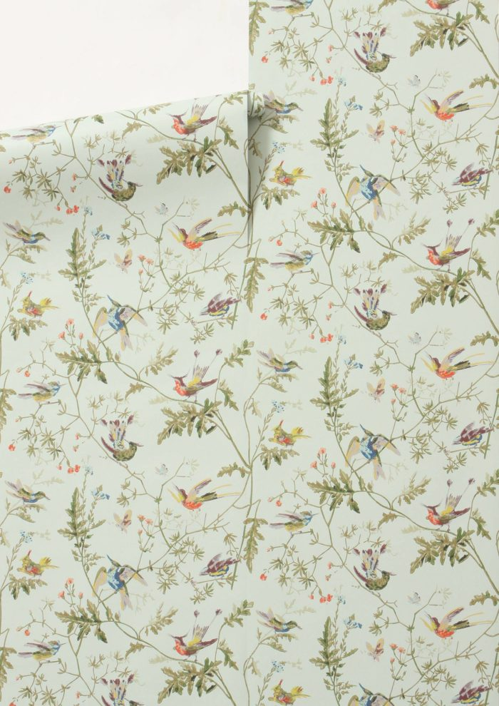 Lookalike for Less: Hummingbirds Wallpaper