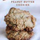 Salty Sweet Peanut Butter Cookies