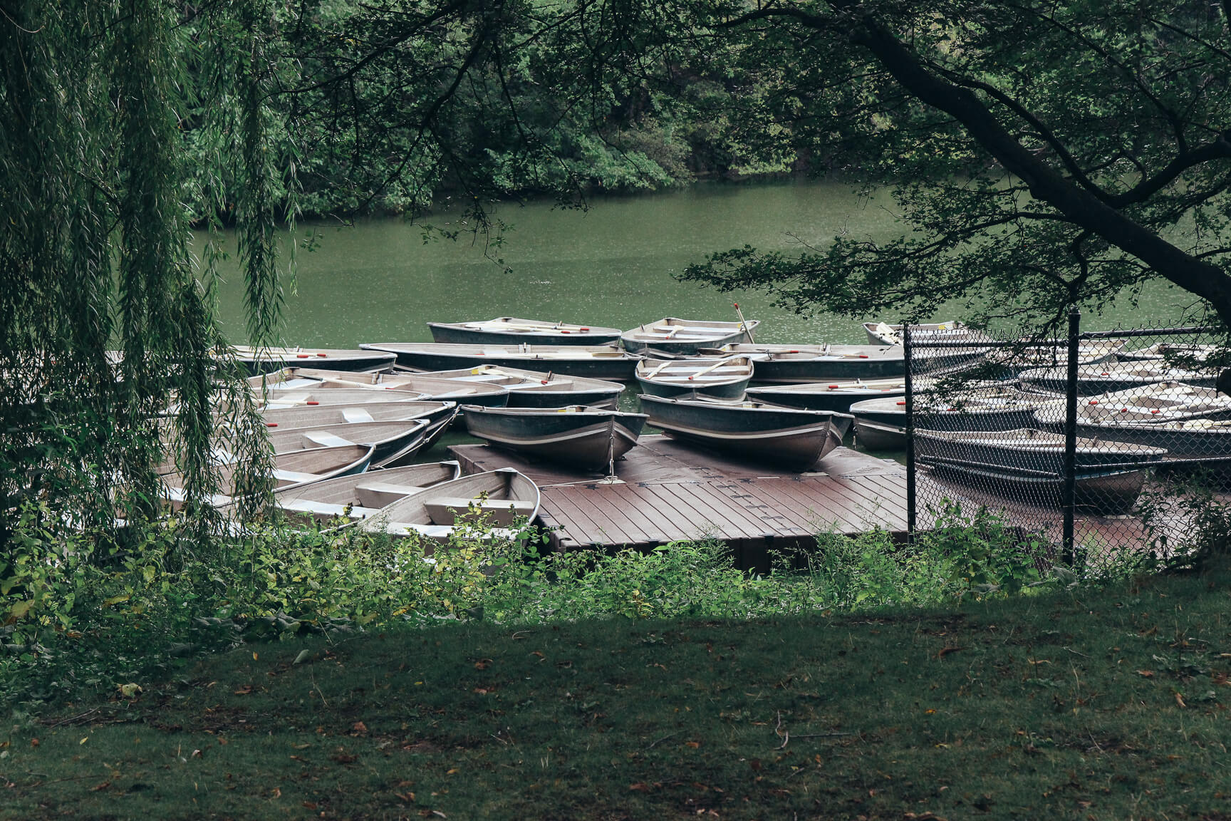 The Lake Central Park rowboats