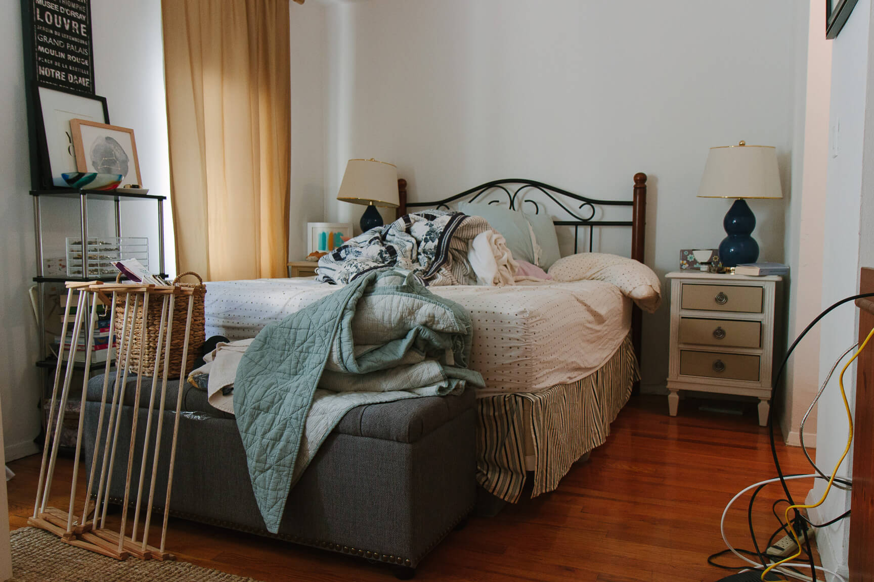 Before: Jackie Clair makes over this bedroom in a New York City studio apartment.