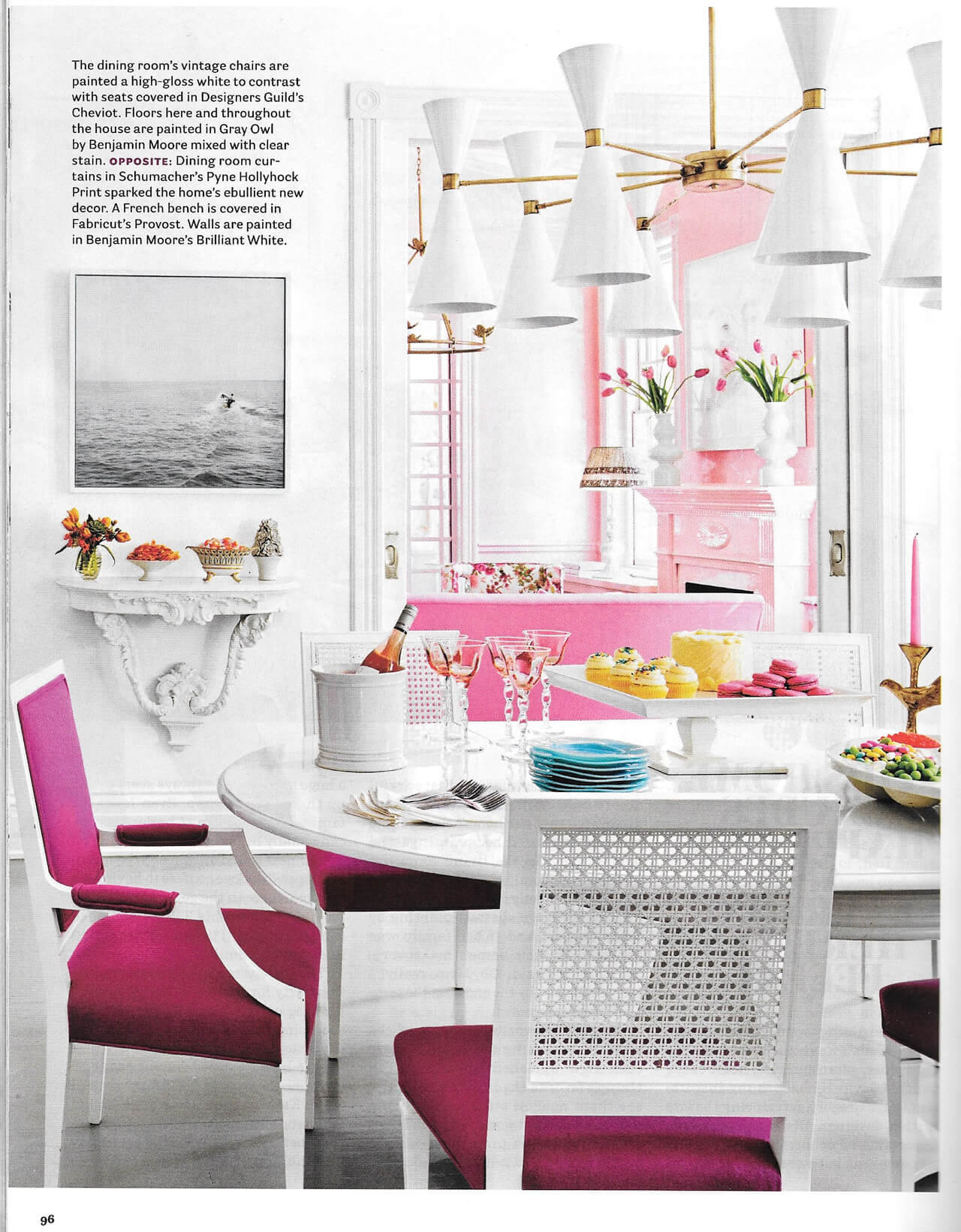A dining room designed by Suellen Gregory for the House Beautiful September 2016 issue