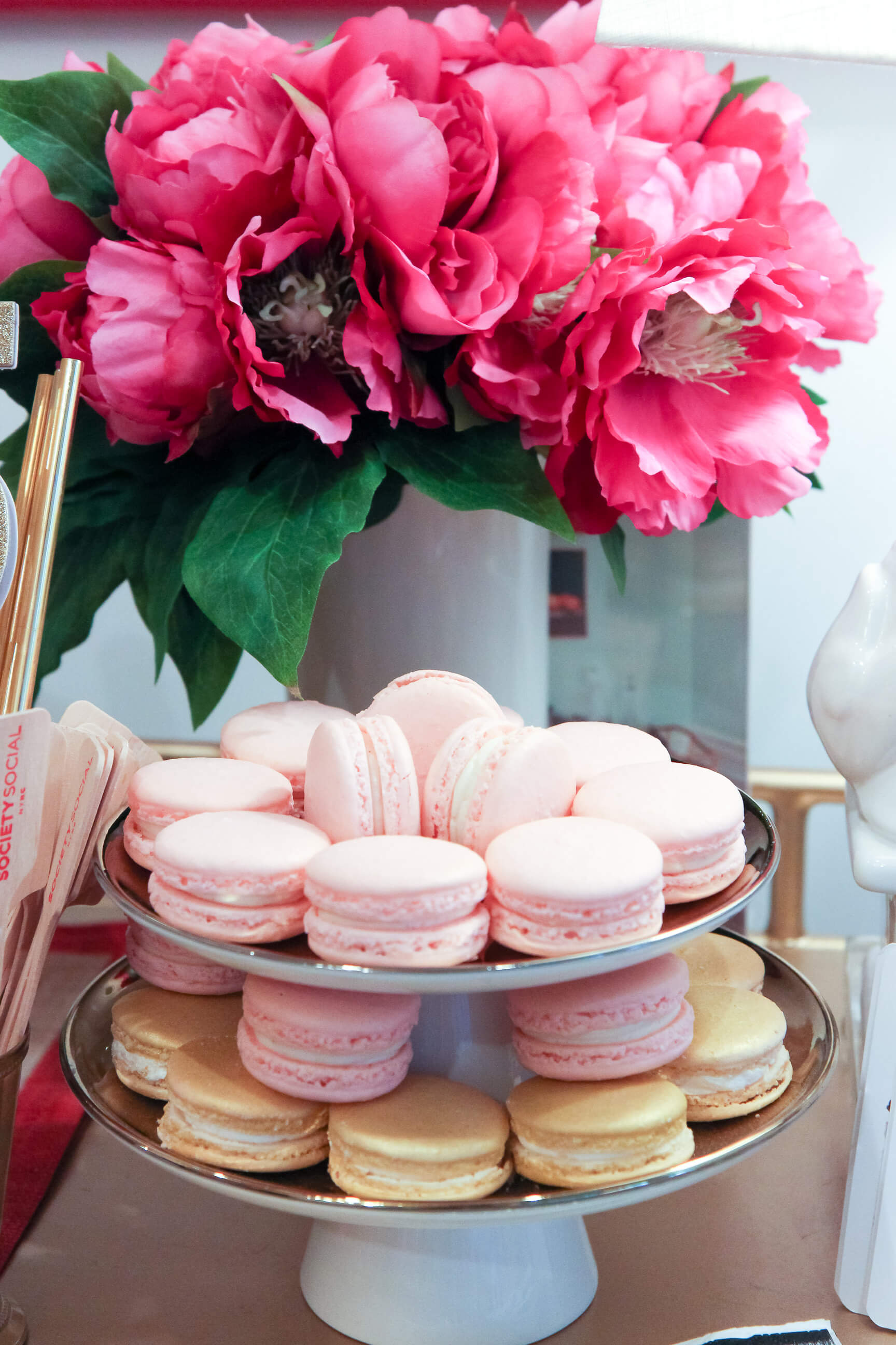 Society Social Studio at 73 Spring Street celebrates turning five with macarons and champagne!