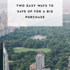 Two Easy Ways to Save Money
