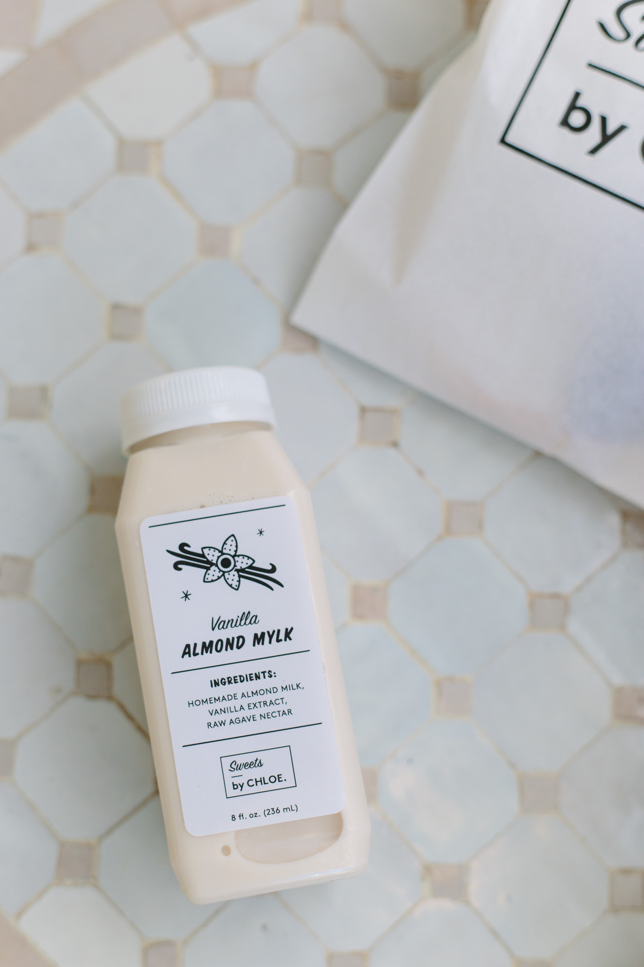 vanilla almond milk at Sweets by Chloe
