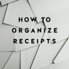 An Organizing Tip for Receipts
