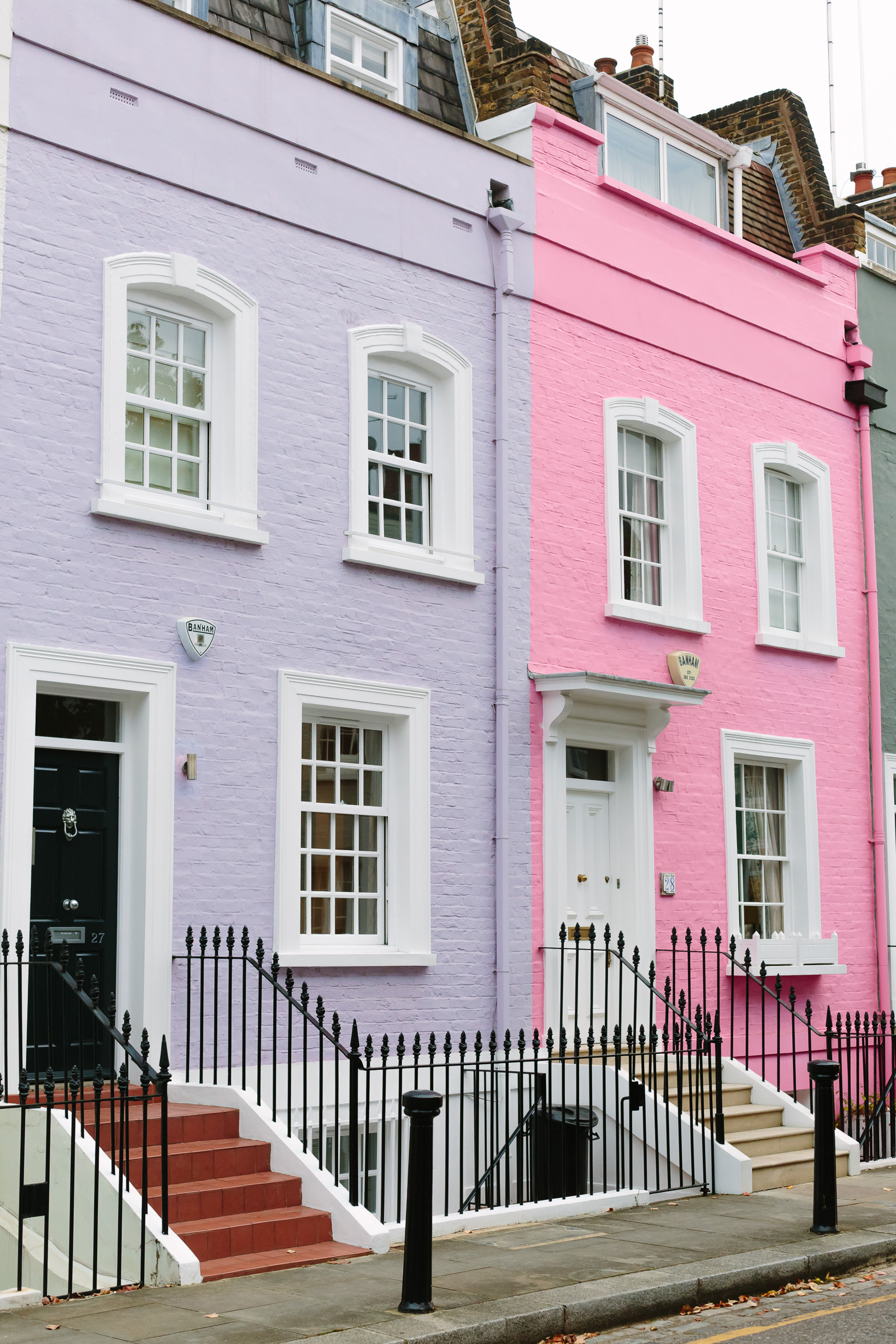 Pink And Purple Colorful Houses In London 3907