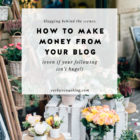 Blogging Behind the Scenes: How to Make Money From Your Blog (Without Huge Traffic!)
