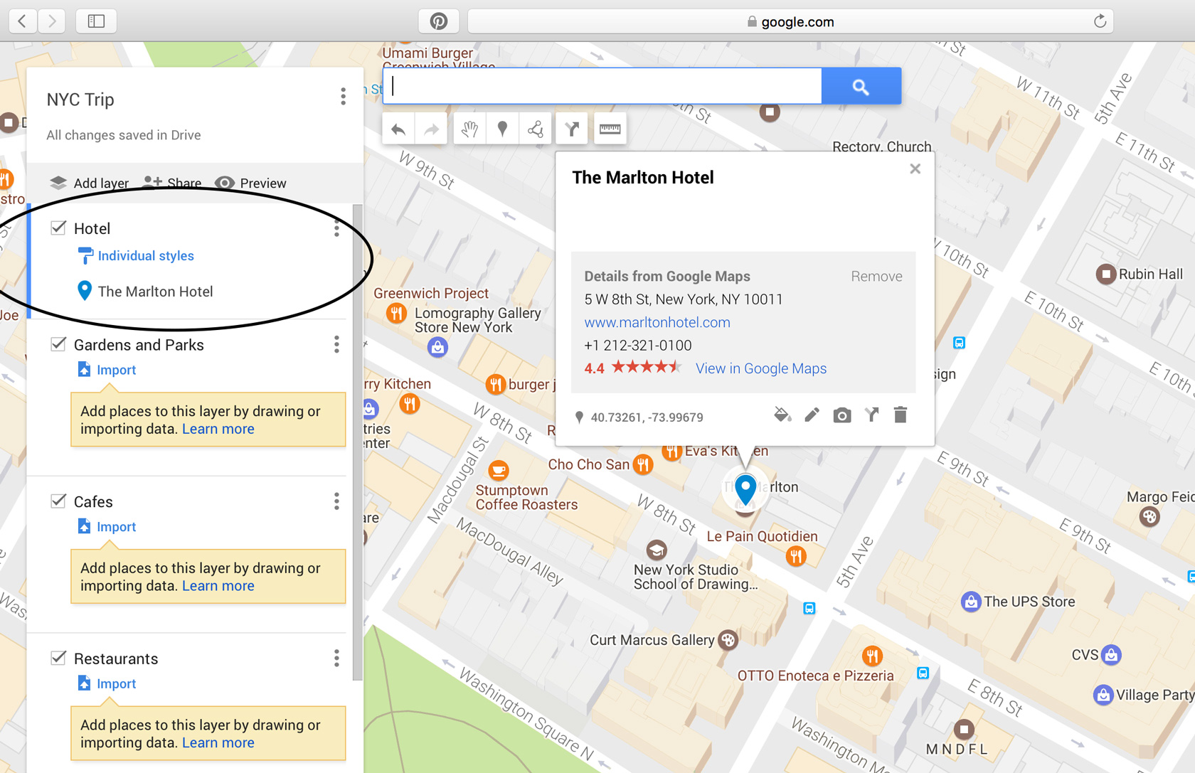 10 step tutorial to make a custom google map for your next trip in this instance will show up on the map along with a box which gives info on that place the address website link etc click add to map ccuart Images