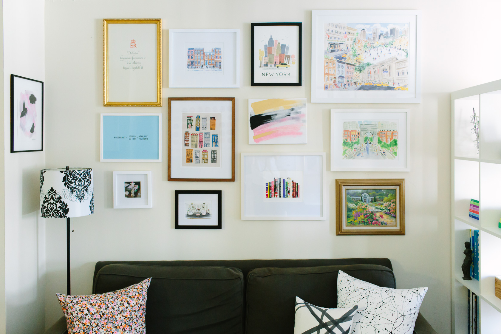 NYC studio apartment home tour featured by top US interior design York Avenue: wall art decor