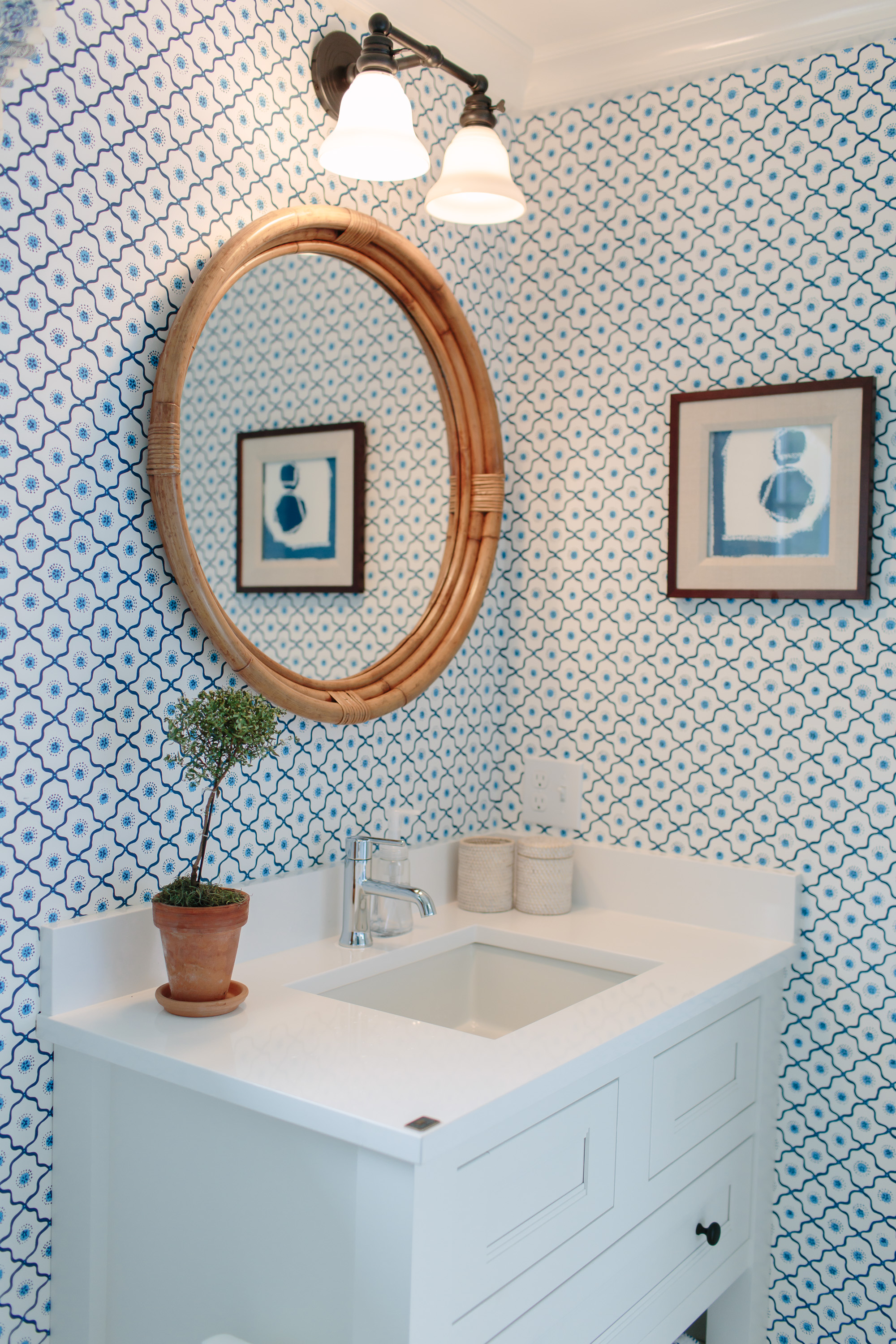 Two Separate Bathrooms The Trim In Bathroom On Right Is Hand Painted Onto Wall It Feels Modern And A Little Sporty Which Provides Nice