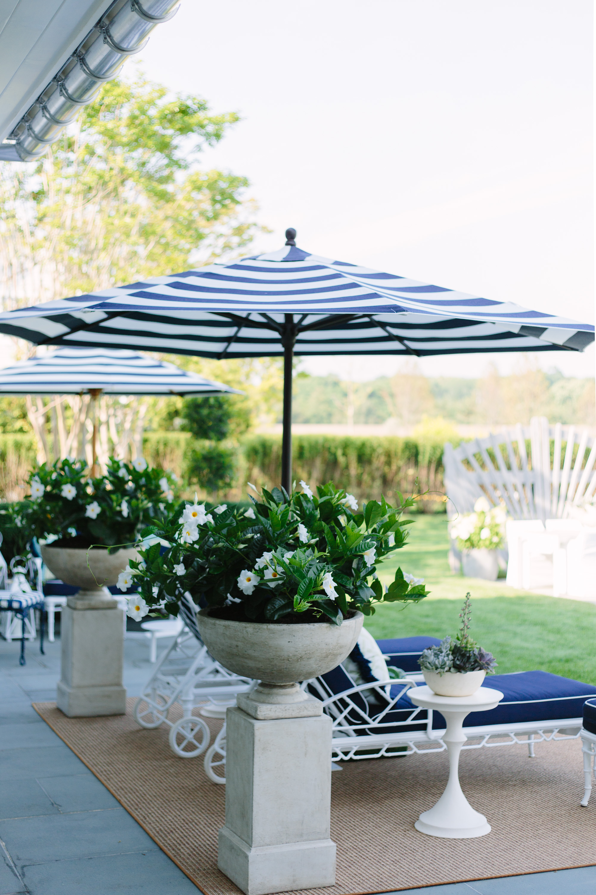 Outdoor space by Gregory Shano at the 2017 Hampton Designer Showhouse