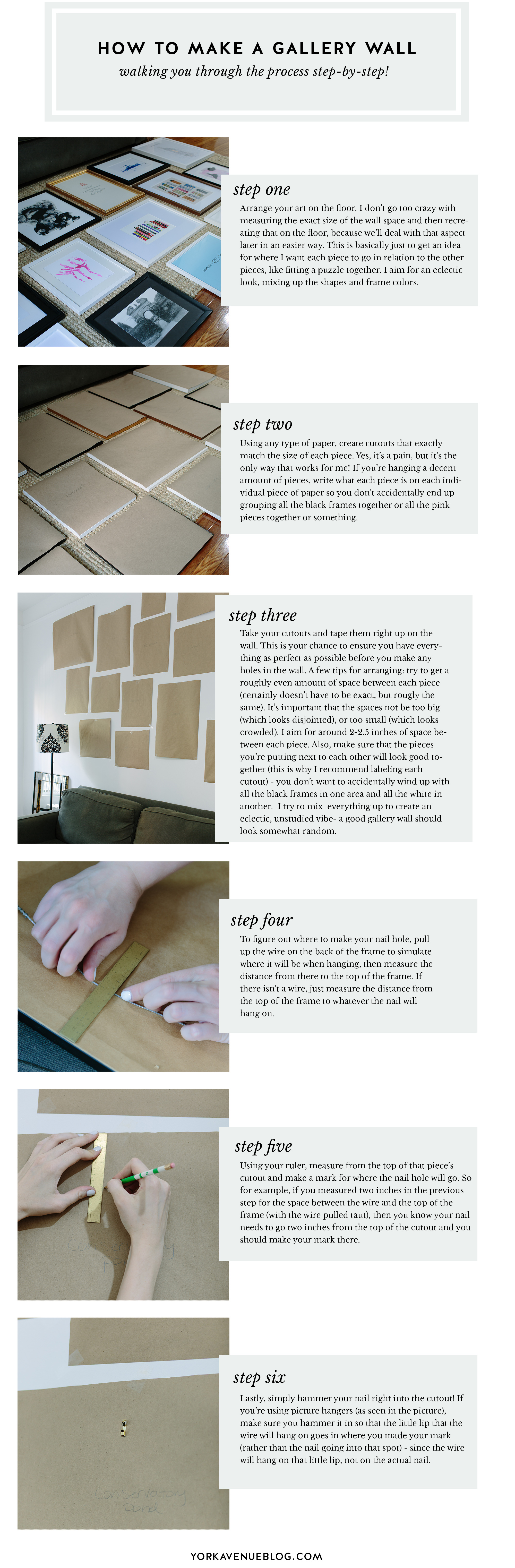 My New Gallery Wall and How I Made It | York Avenue
