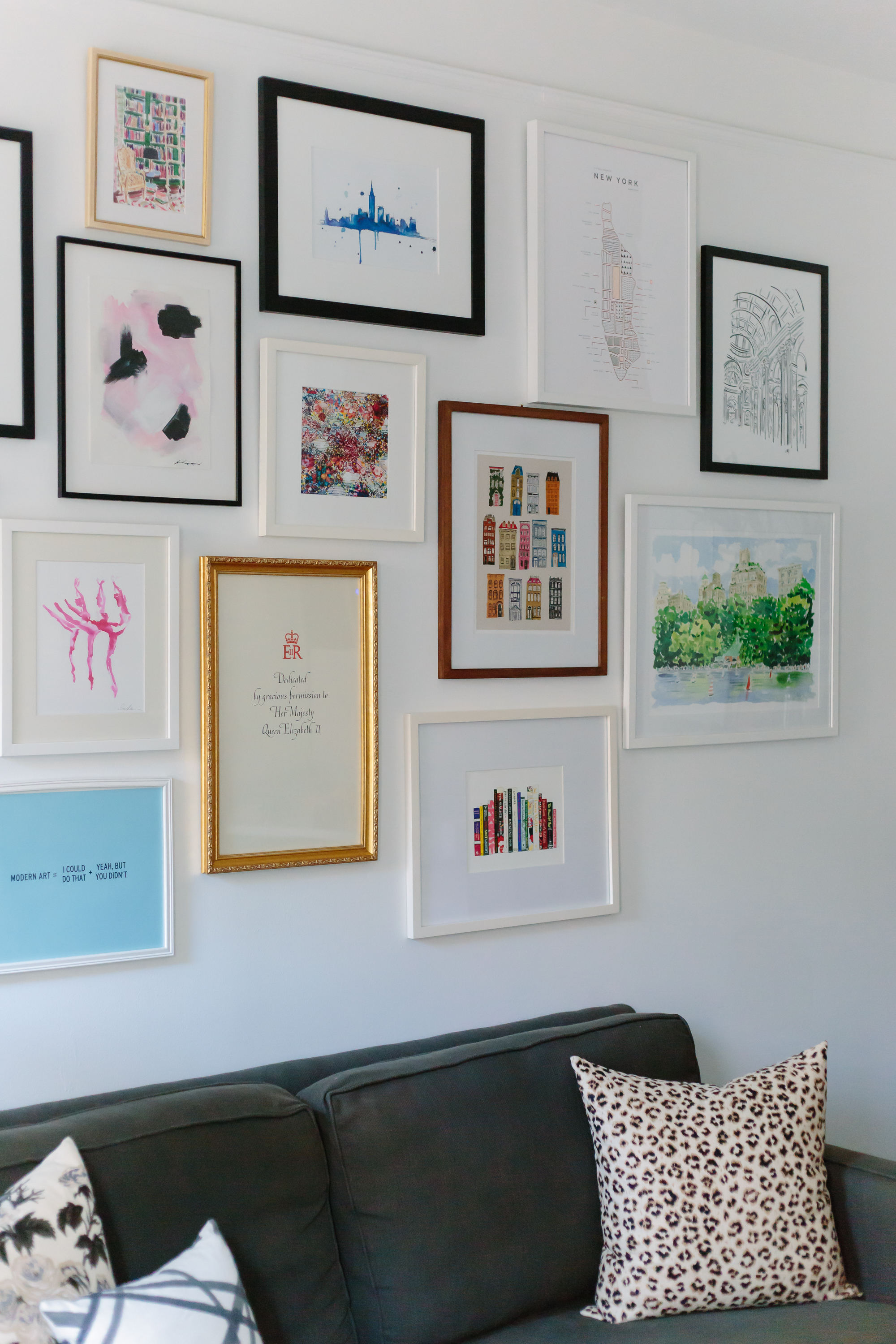Eclectic gallery wall and step by step instructions for creating one