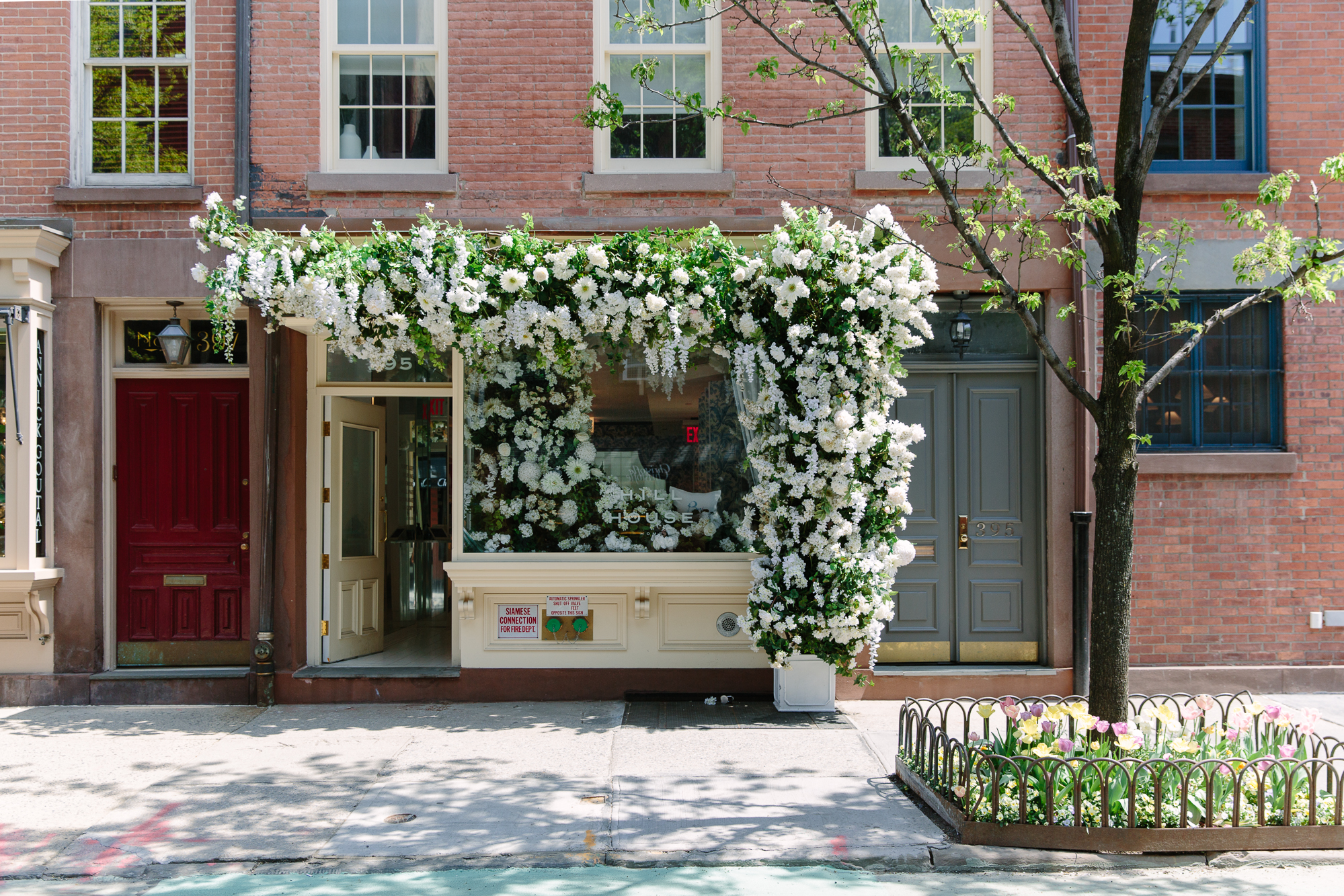 Hill House Home West Village spring floral installation