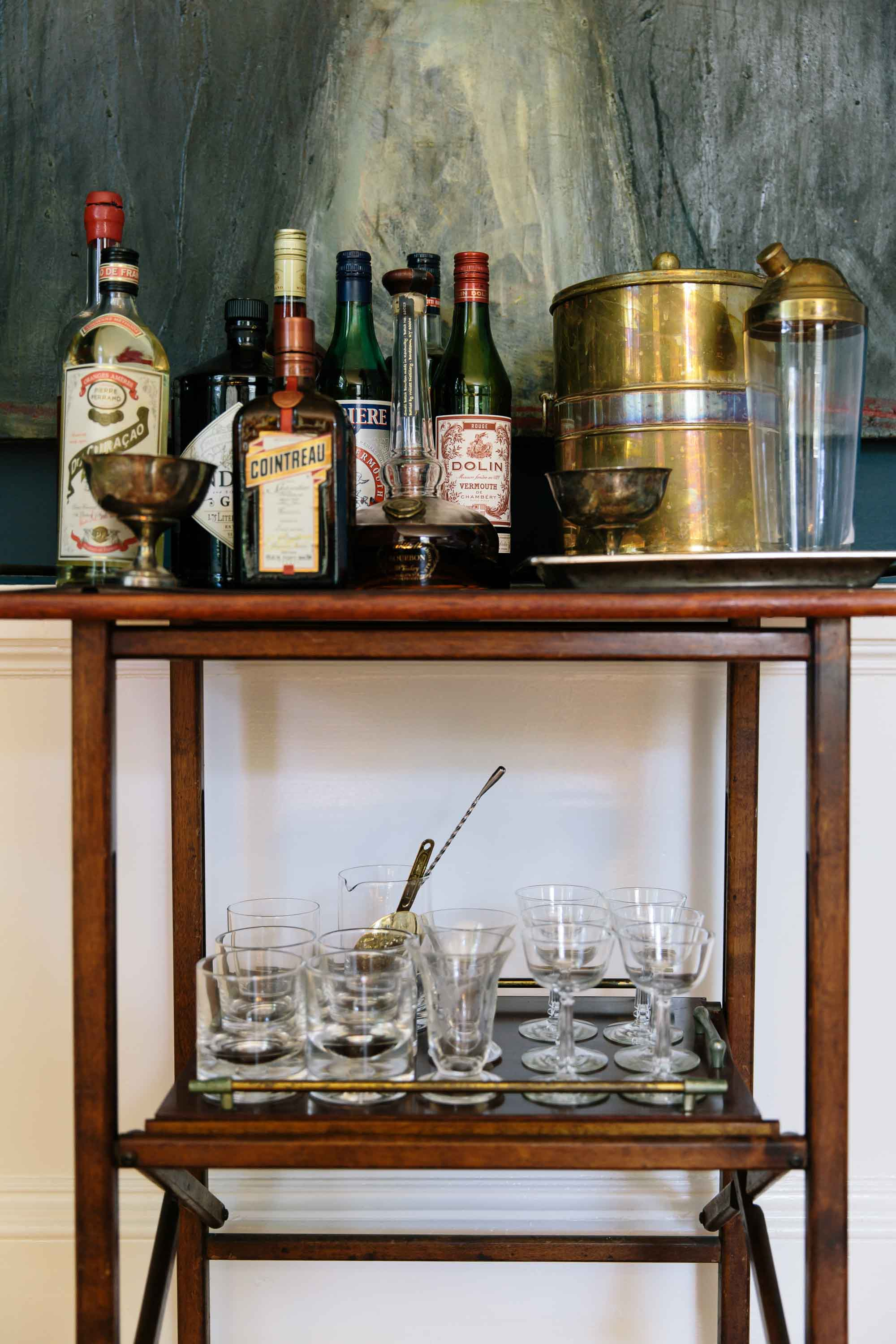 Bar cart at The Inn at Kenmore Hall