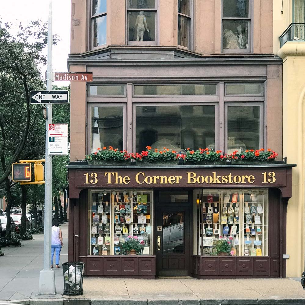 Things to Do in Upper East Side New York City featured by top New York City blog, York Avenue: image of The Corner Bookstore