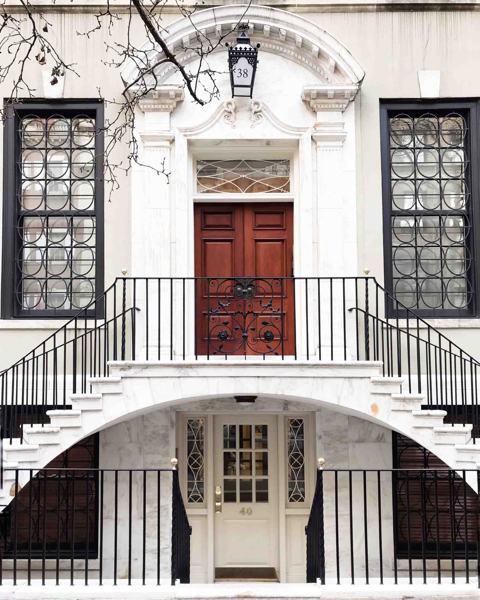 Upper East Side townhouse with double staircase