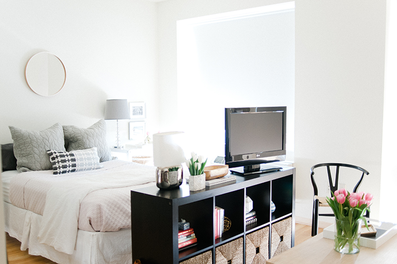 8 Stylish Ideas for Dividing a Studio Apartment featured by top US interior design blog, York Avenue