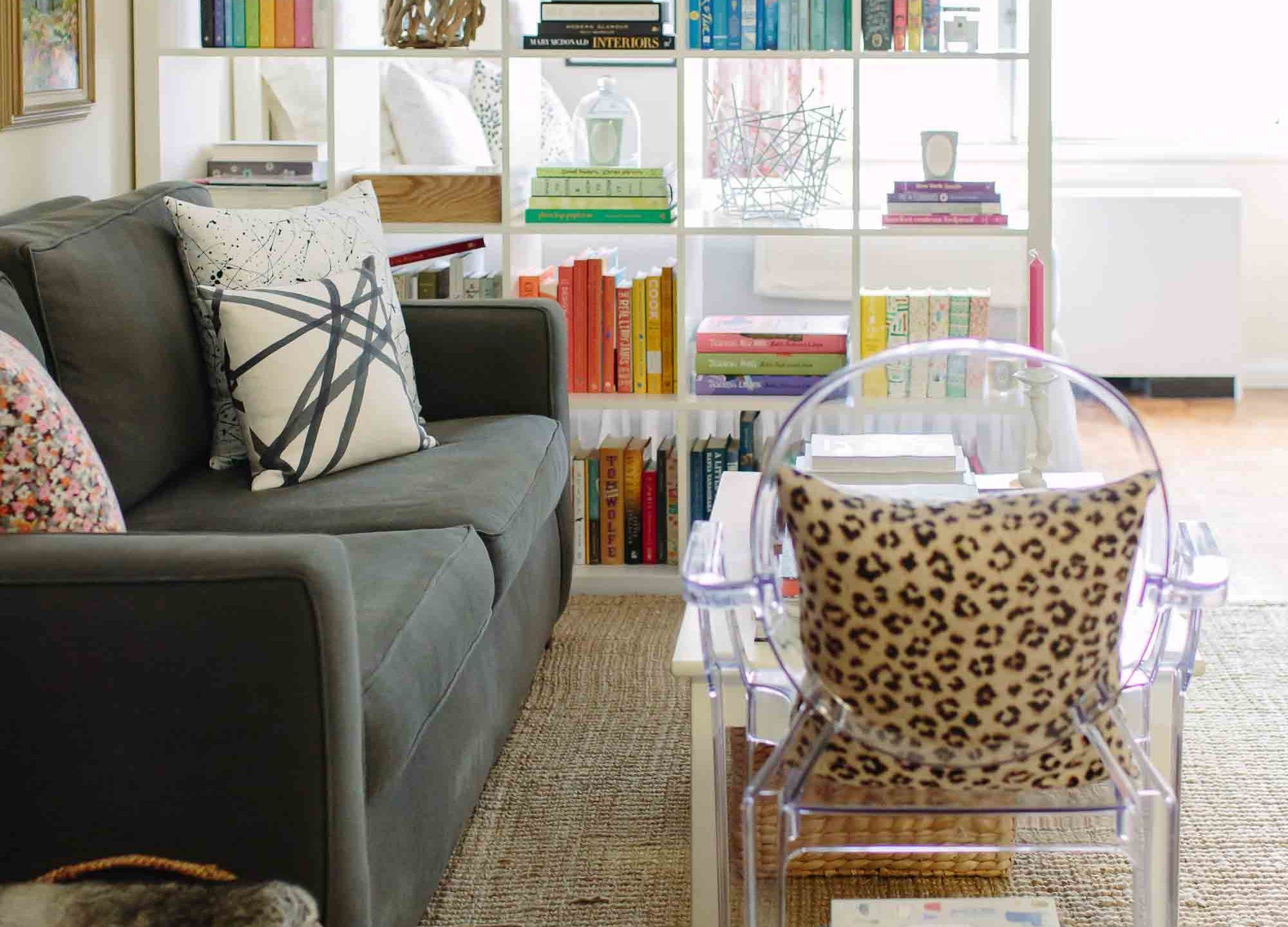 8 Stylish Ideas for Dividing a Studio Apartment featured by top US interior design blog, York Avenue; image of Ikea bookshelf
