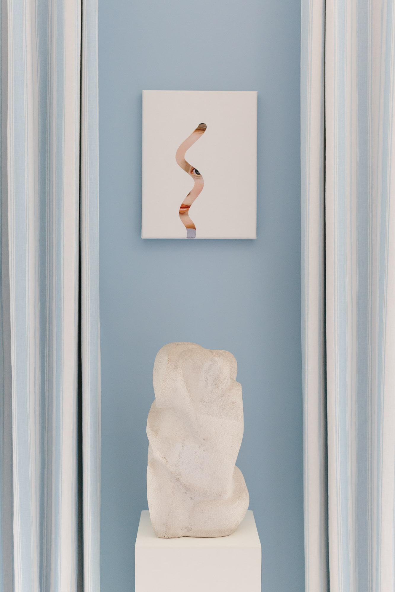 Lino Lago artwork in Alessandra Branca living room at the 2019 Hampton Designer Showhouse