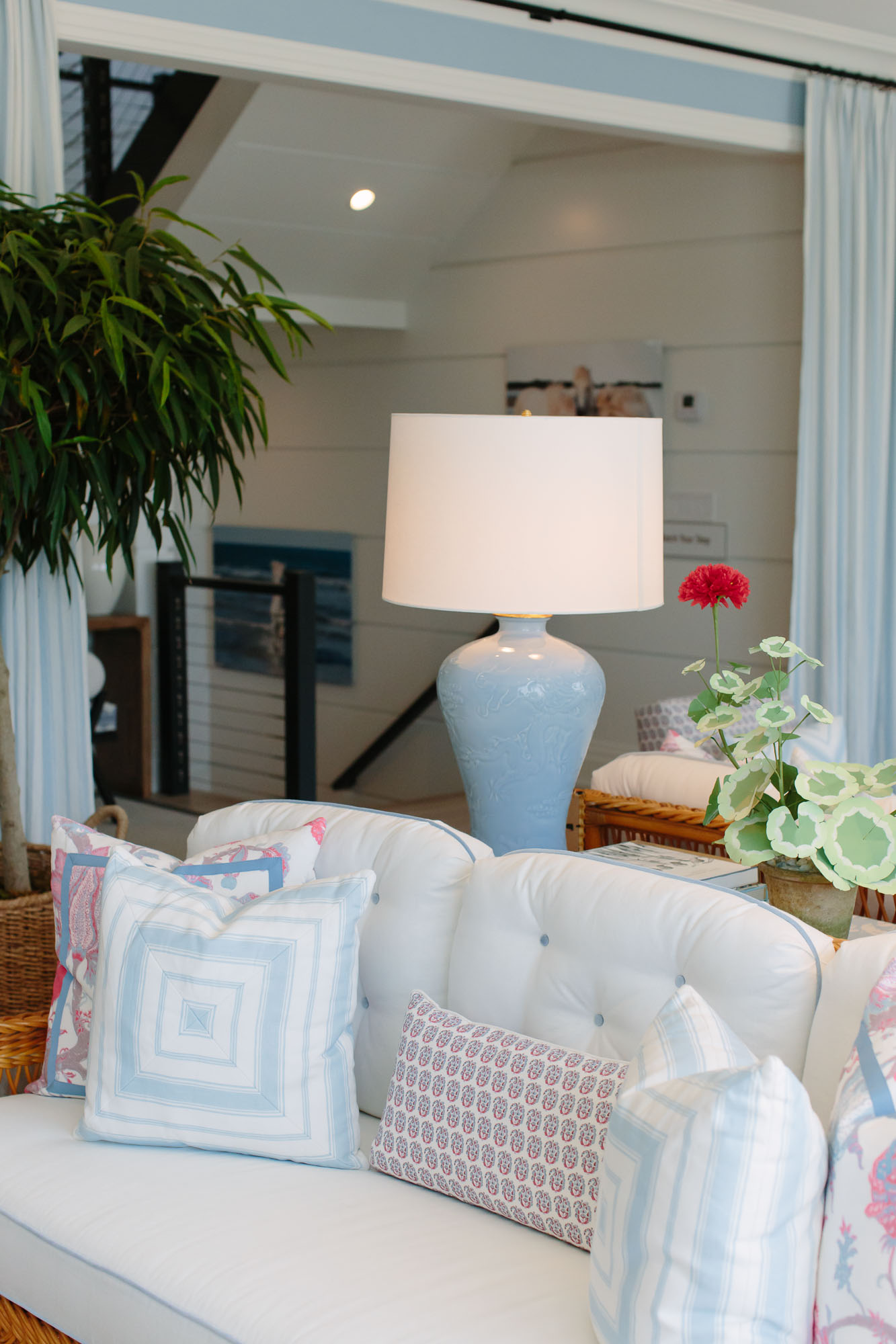 2019 Hampton Designer Showhouse featured by top US style blog, York Avenue: image of Alessandra Branca living room at the 2019 Hampton Designer Showhouse