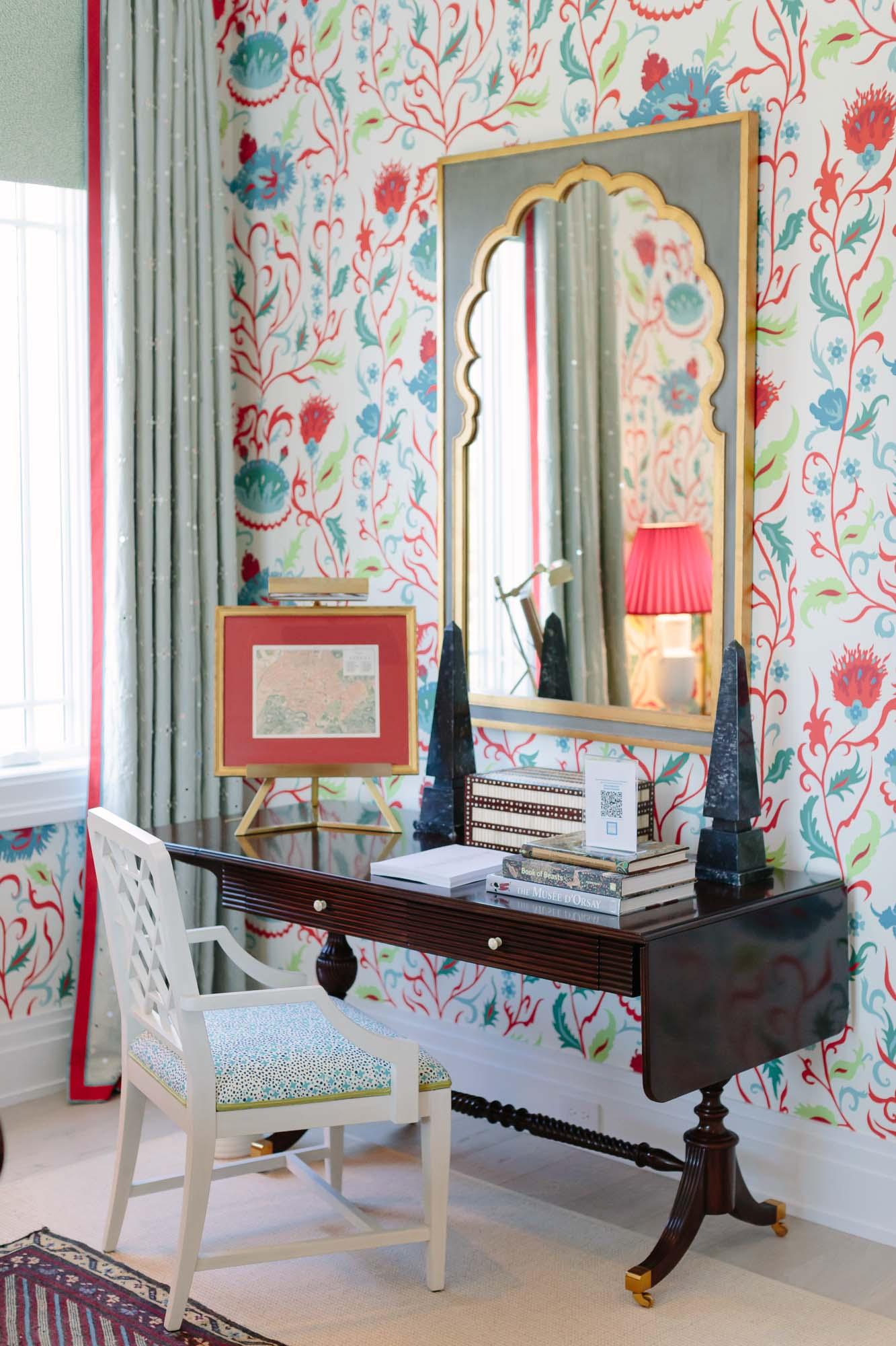 Alexa Hampton bedroom at the 2019 Hampton Designer Showhouse