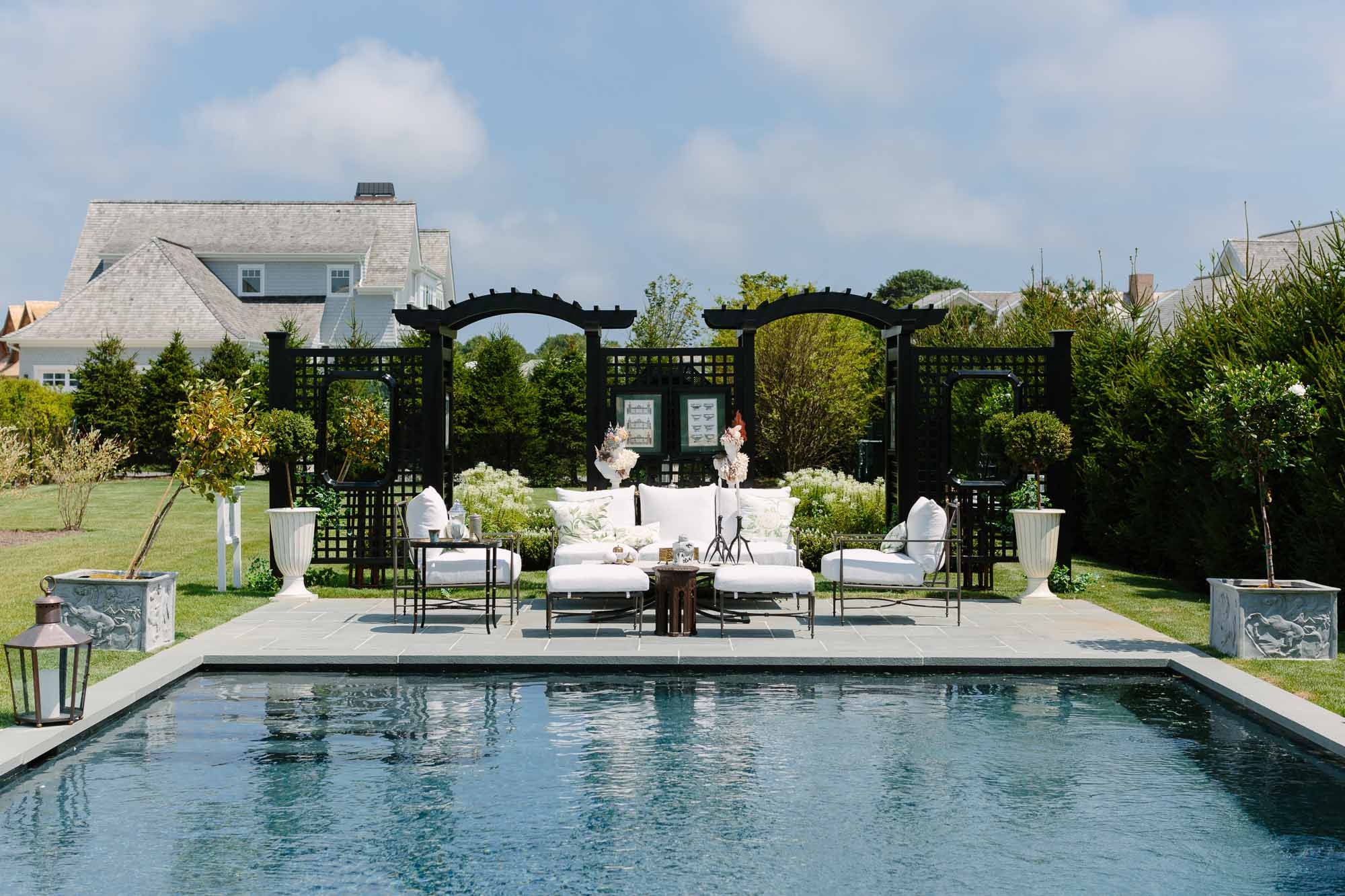 Brittany Bromley outdoor pool space at the 2019 Hampton Designer Showhouse