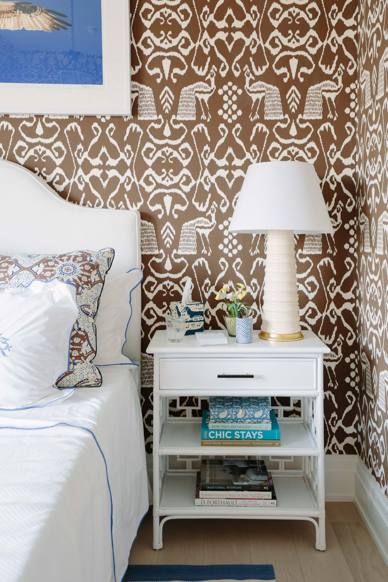 2019 Hampton Designer Showhouse featured by top US style blog, York Avenue: image of Leta Austin Foster bedroom at the 2019 Hampton Designer Showhouse
